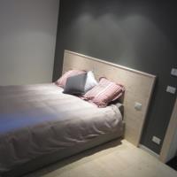 Camera da letto dell'appartamento RIGL di Sauris
